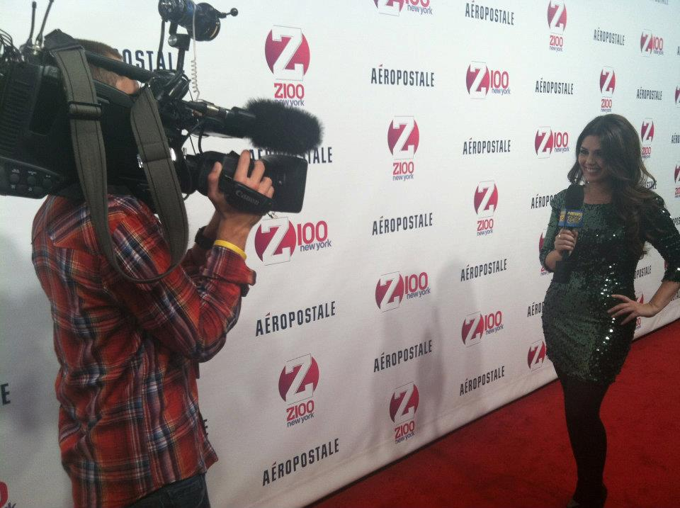 on red carpet Jingle Ball