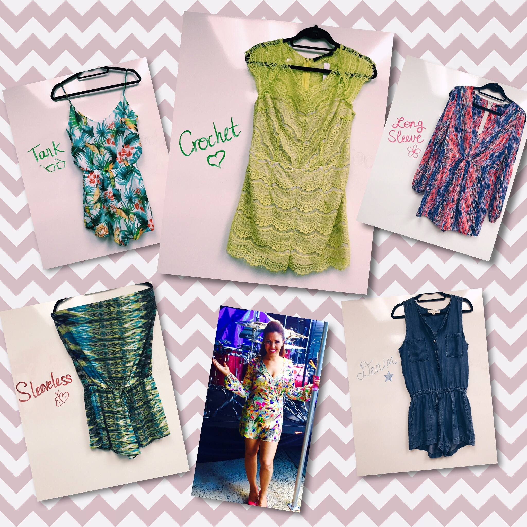 rompers collage